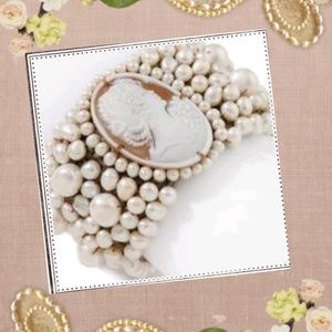 "NWT  Amedeo NYC Freshwater Pearl 8"" bracelet"